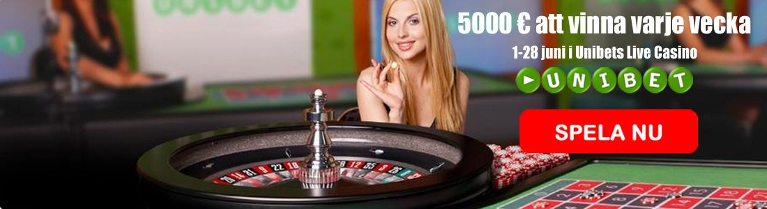 Live casino turnering