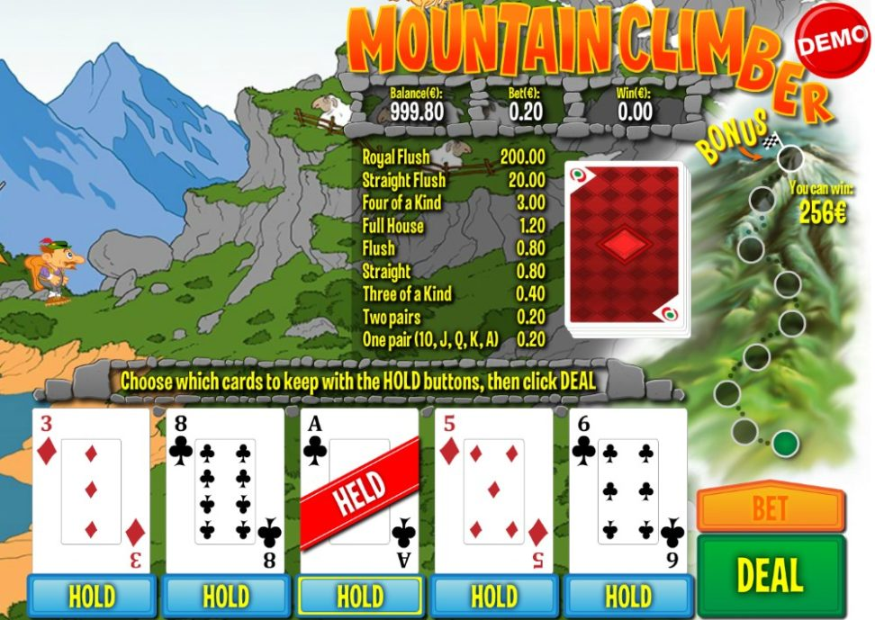 Mountain Climber videopoker