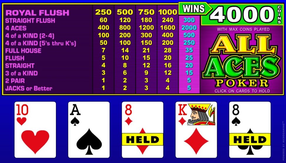 All Aces videopoker
