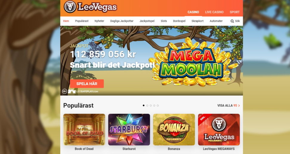 Leo Vegas har flera olika casinobonusar
