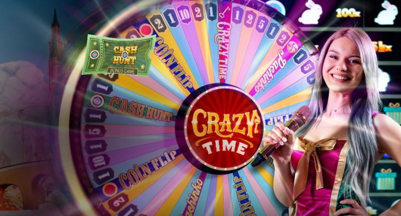 Crazy Time live casino spel