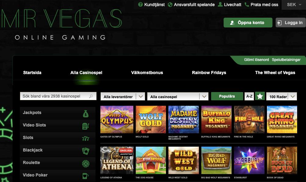 Mr Vegas casinolobby